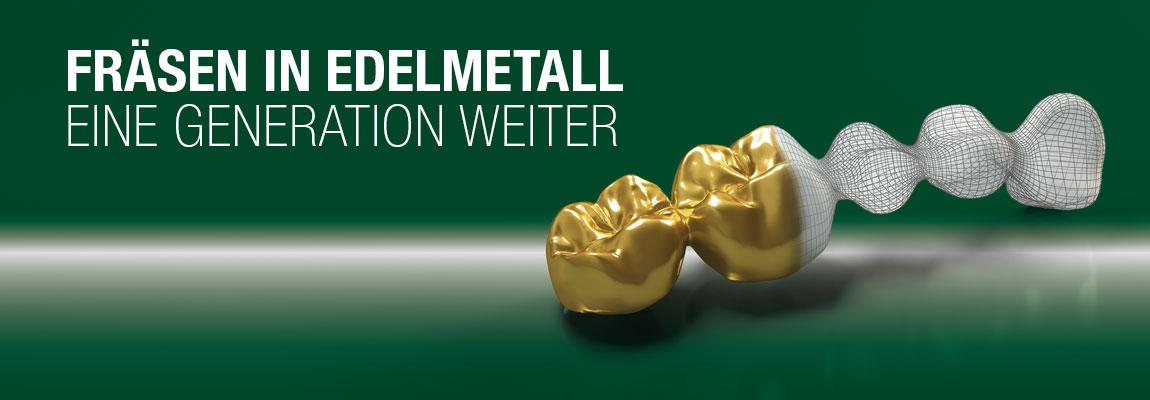 Fräsen in Edelmetall am Beispiel einer Dentalbrücke