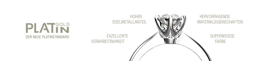 Platingoldener Diamantring