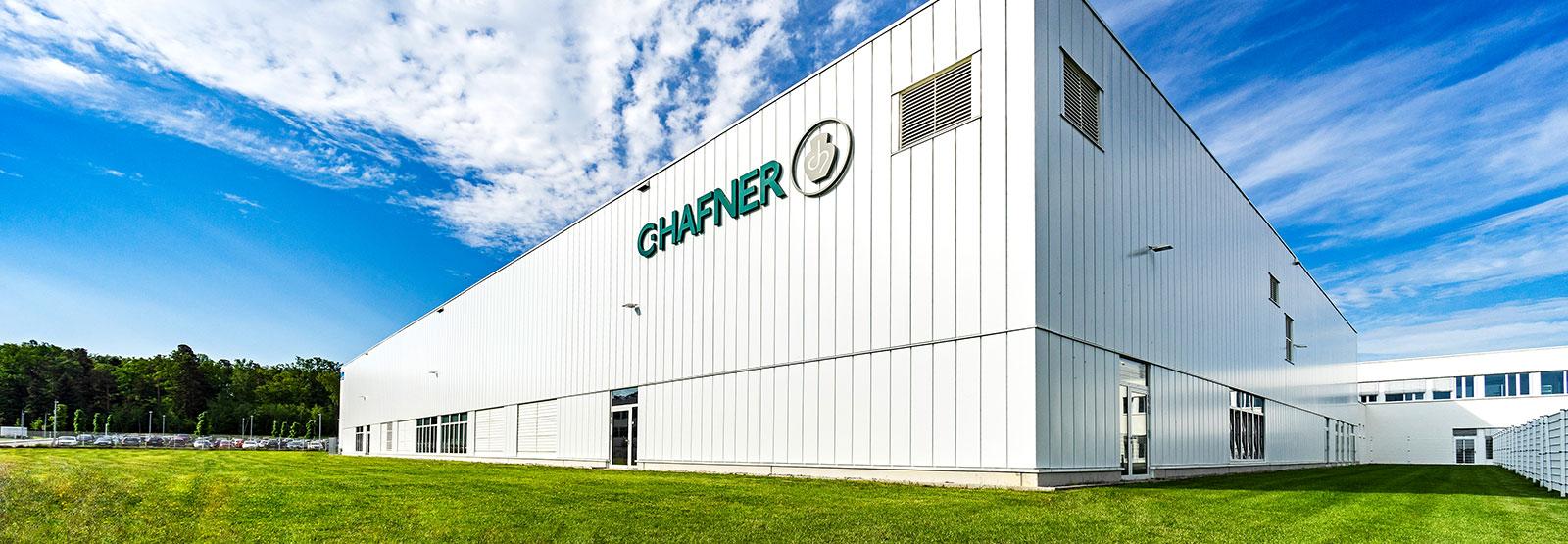 Außenansicht Produktionshalle von C.Hafner