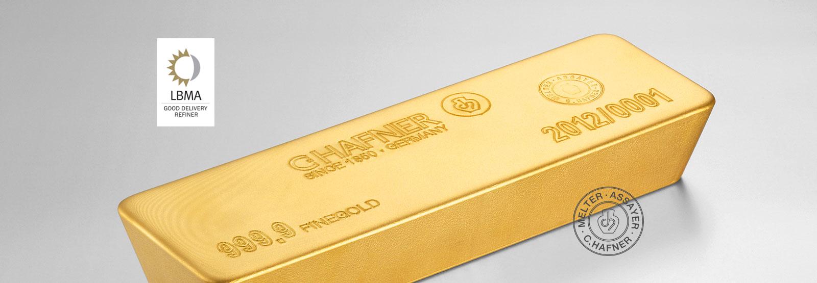 Goldbarren mit dem LBMA Zertifikat