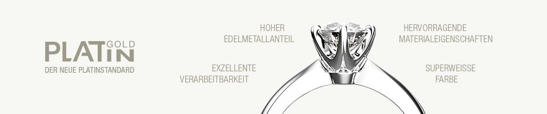 Platingoldener Diamantring