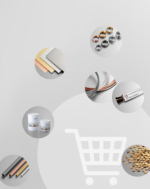 Online-Portal für Edelmetall-Halbzeuge