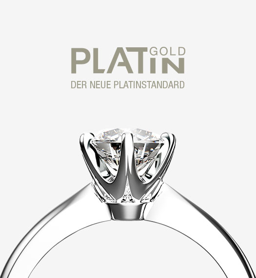 Solitäire-Ring aus Platingold