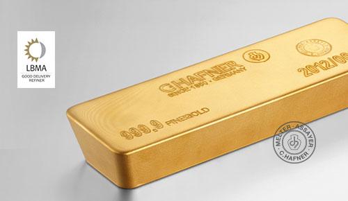C.HAFNER-Goldbarren nach LBMA-Standard