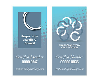Zertifikat des Responsible Jewellery Council