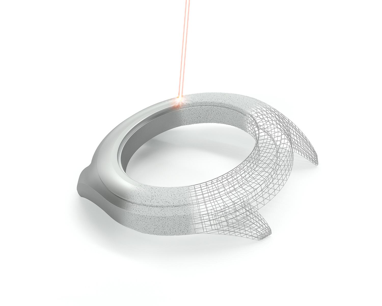 Additive Fertigung eines Uhrengehäuses mit Edelmetallpulvern
